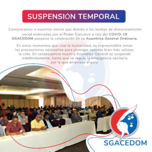 Suspensión Temporal Asamblea General Ordinaria