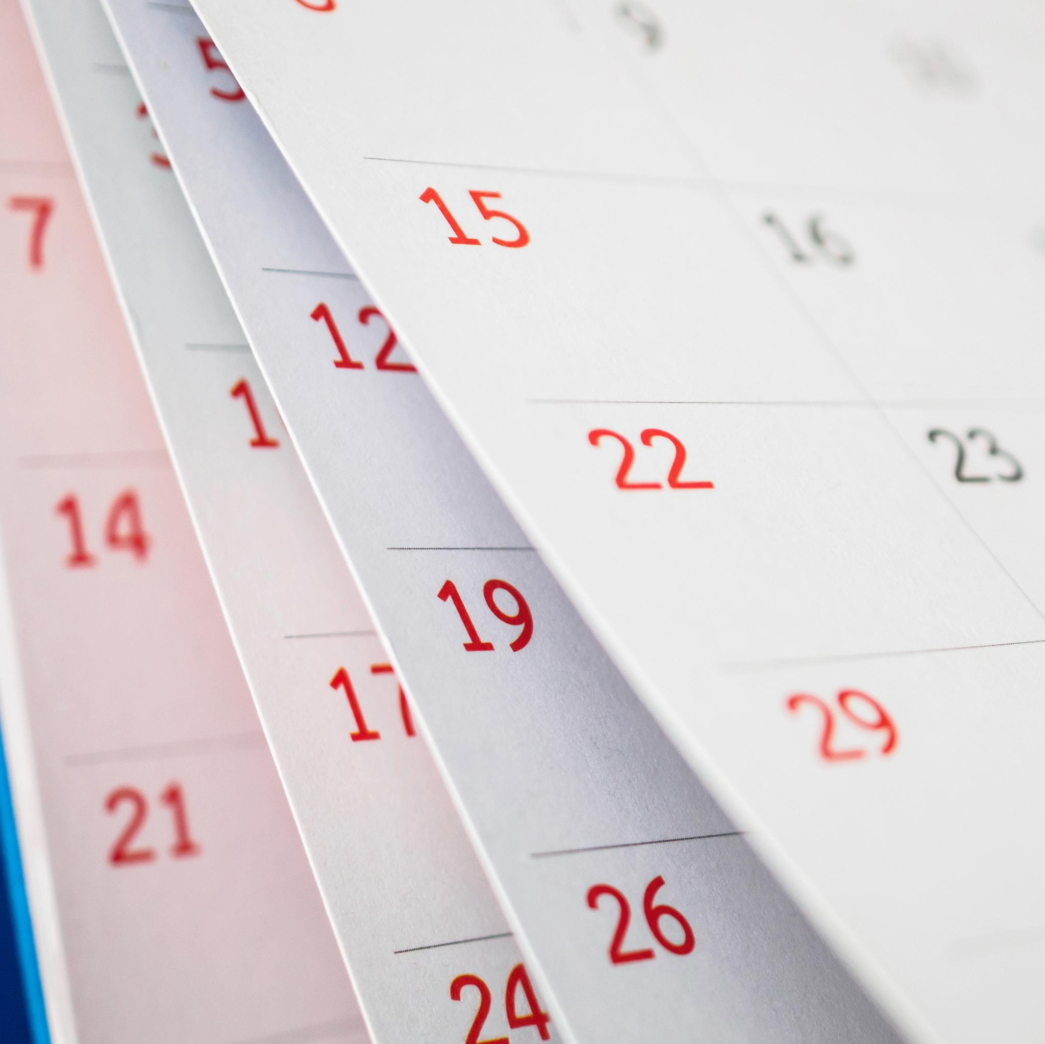 Calendario de Distribución 2021